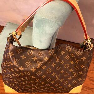 Louis Vuitton Berri MM Canvas Handbag